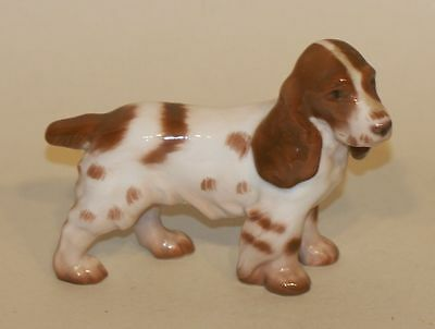 B&G Bing & Grondahl Denmark Figure 2172 Brown & White Cocker Spaniel Puppy Dog