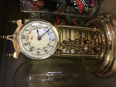 Vintage Kundo Anniversary Clock 400 Day clock - WORKING -Glass Dome-West Germany