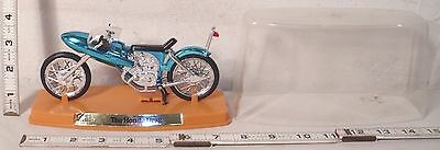 Zee Toys Honda Drag Bike Motorcycle Toy In Blue Chrome Boxed 1971