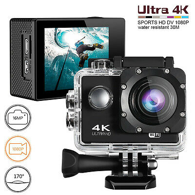 Ultra 4K WiFi Motorcycle Mount Action 1080p HD 16MP Camera Video Cam Recorder