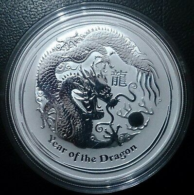 1 Oz Dragón plata pura 2012. Australian Year of the dragon .