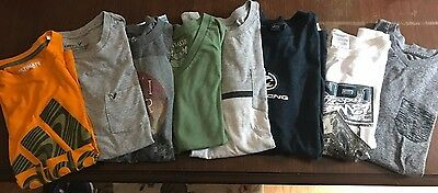 Gently Used Lot of Mens Small 8 Pieces Brand Short Sleeve Athletic Shirts