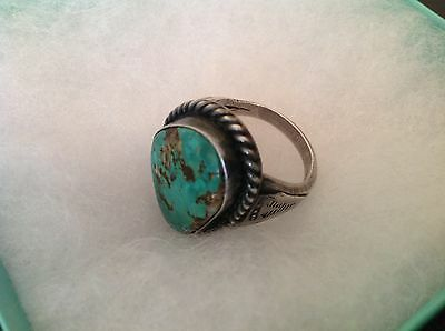 Grace Smith Vintage Navajo Turquoise Silver Ring