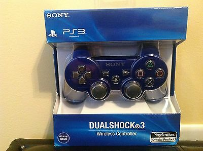 Playstation 3 Ps3 Dual Shock Controller New In Box Metallic Blue