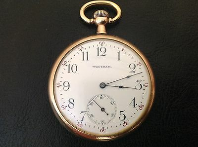 Antique 1895 Waltham Pocket Watch Working In Beautiful Condition Etched Bird