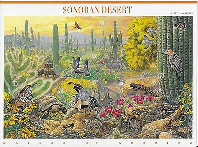 US Stamps, Sonoran Desert, 1999 SC# 3239a-j