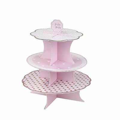 CAKE STAND Talking Tables 3-Tier Pink Baby Shower Cupcakes Cake PICK N MIX B2
