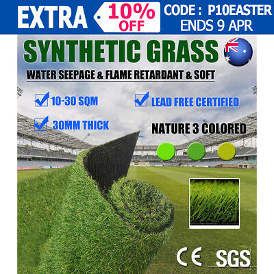 10-30SQM 30mm SyntheticTurf Artificial Grass Plastic Plant Fake Lawn Flooring