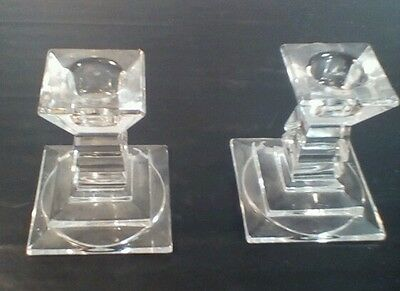 Crystal candleholders clear