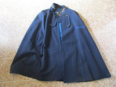 vintage Bruck's Nurses Cape 100% Wool w Blue Lining C.V.M.H. Conemaugh Valley NR