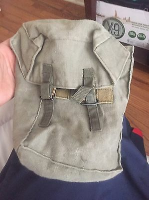Vtg Military Canteen Ammo Canvas Pouch Bag Army WWII Field Gear Pack Foreign