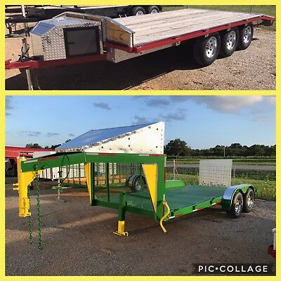Show Trailer Torsion Triple Axle Equipment  Tractor Car Dove Tail 21 Ft