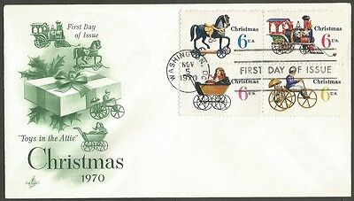 Us Fdc 1970 Christmas 6C Stamps Toys In The Attic Ac First Day Of Issue Cover