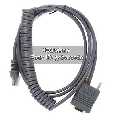 9FT Coiled Generic RS232 Serial Cable for Honeywell Metrologic MS7120 MS9540
