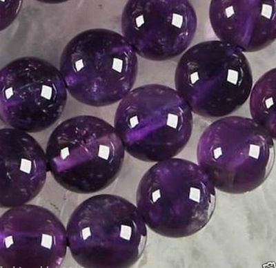 10mm Natural Russican Amethyst Gemstones Round Loose Beads 15''