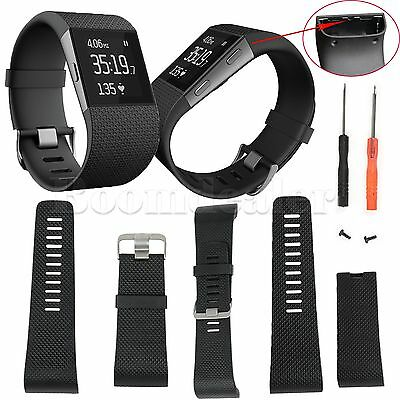 Silicone Replacement Band Wrist Strap for Fitbit Surge Tracker Watch bracelet