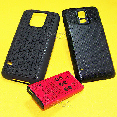 8900mAh Extended Battery Black Cover TPU Case for Samsung Galaxy S5 G900V I9600