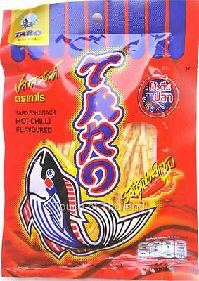 Taro Fish Snack Hot Chilli Flavored, Great Thai Low Fat Protein Food
