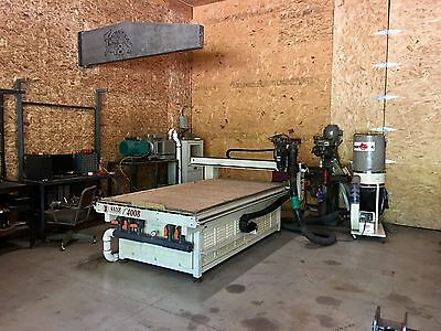 2004 AXYZ 4008 CNC Router Table 10 HP Spindle 10 HP Vacuum Pump