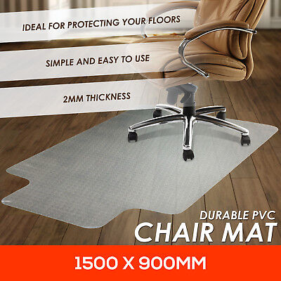 New Hard Floor Chair Mat Vinyl Protector Plastic Office Work PVC 1500x900mm