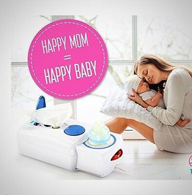 Electric Bottle Heater Baby Wipes Container Milk Food Jar Infant Warmer Compact