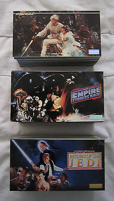 STAR WARS TRILOGY Topps Widevision Trading Cards 3 x Full Sets
