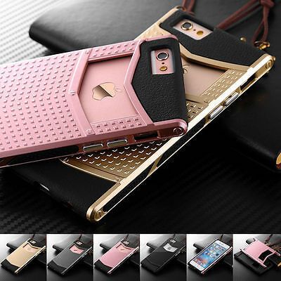 Vintage Armor Shockproof Rubber Hybrid Hard Case Cover For iPhone 7 6 6S Plus
