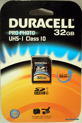 Duracell 32GB Pro-Photo Video Optimized, UHS-I SDHC Class 10 Memory Card