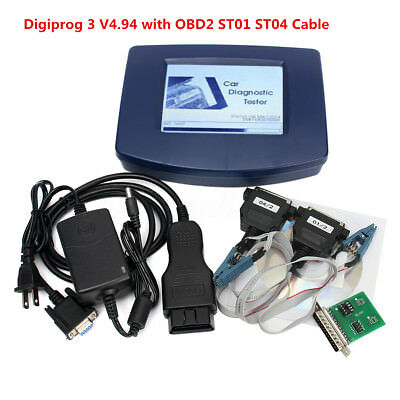 Main Unit of Digiprog 3 Digiprog III V4.94 With OBD2 ST01 ST04 Cable Adapter Kit