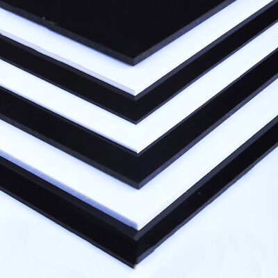 ABS Plastic Sheets / Skins / Board 0.3mm-5mm Thick Black White For Craft DIY