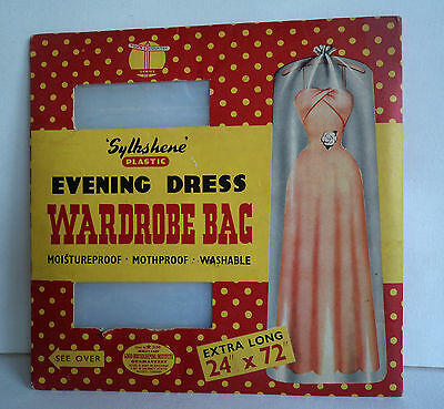 Vintage 50's/60's 'Sylkshene' Plastic Garment Bag in Original Packaging. RARE