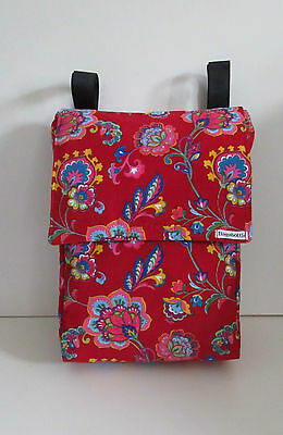 Bagabottle Red Pouch Bag fits Bugaboo icandy,Mamas Papas  & More