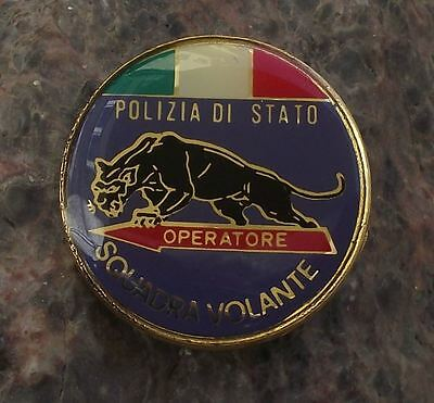Italy Squadra Volante Flying Squad Organised Crime Mafia Police Pin Badge
