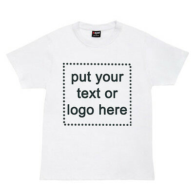 Unisex T-shirt CUSTOM PRINTED Personalise Your T-Shirt Text Design 100% Cotton