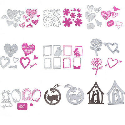 21Types Metal Cutting Dies Paper Card Craft Stencil Scrapbook Embossing Decor