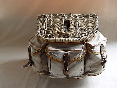 Ancien Panier De Peche En Osier  Vannerie Old Fishing Wicker Basket Pp2