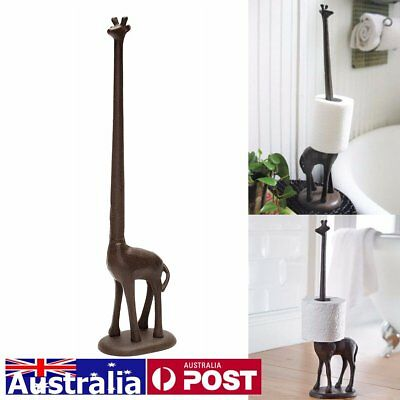 AU Metal Giraffe Toilet Paper Roll Towel Tissue Dispenser Holder Statue Decor