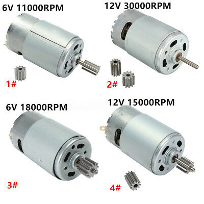 6V/12V 18000-30000RPM Electric Motor Gear For Kids Ride On Bike Car Toy Parts