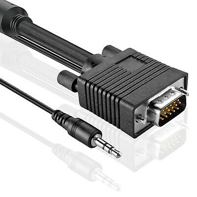 Premium 2M 3M 4M 5M 7M 10M VGA Monitor Cable Cord Wire with 3.5mm Stereo Audio