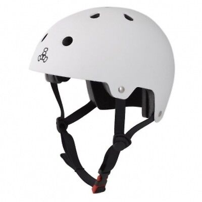 Triple 8 Brainsaver Dual Certified Helmet with EPS Liner - White Rubber