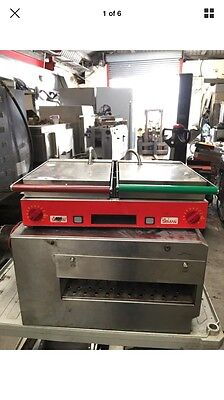 X Costa Sirman Double Ribbed Double Pannini Contact Grill Single Phase