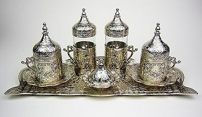 Authentic Turkish Coffee Serving Set for 2, Perfect gift set for coffee lovers