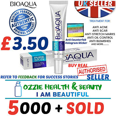 Bioaqua Pure Skin Anti Acne Scar Blemish Stretch Mark Removal Cream Gel Face Uk