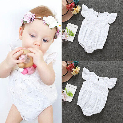 Newborn Toddler Baby Girls Cotton Bodysuit Romper Jumpsuit Clothes Outfits 0-24M