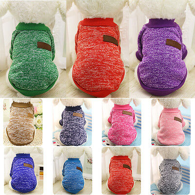 Pet Small Dog Coat Jacket Clothes Puppy Cat Hoodie Sweater Soft Apparel Costume
