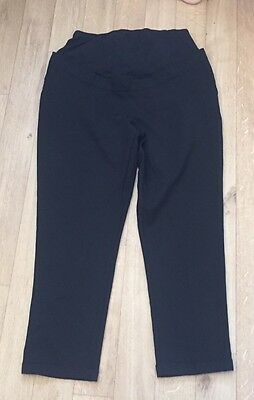 New Look Maternity Over Bump Black Work Trousers Size 16 Leg 32