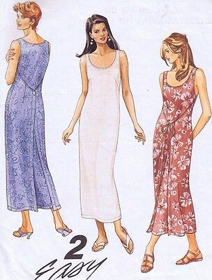 Vintage McCall's Ladies  Dress Wrap Style Sewing Pattern 7591 Misses Size 12-14