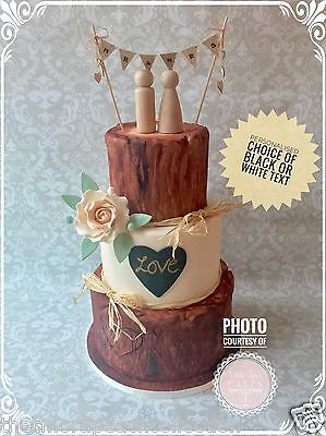 Mr &/and Mrs*hessian*wooden Hearts*vintage*burlap*cake Topper*wedding*bunting