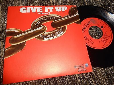 "The Crusaders Give It Up/mellow Out Single 7"" 1976 Spain"