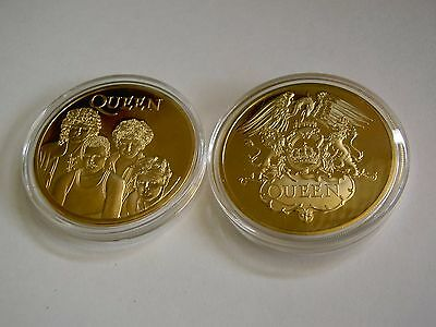 QUEEN (Band) Commemorative Challenge Coin ~ 24K Gold Plated